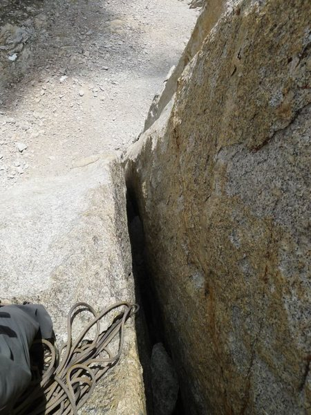 Rock Climbing Photo: looking down the last and most grovelly of the off...