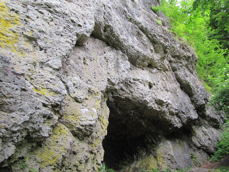 THe cave at Untere Diebesloch.