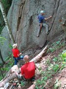 Rock Climbing Photo: Kevin sets out seeking FA-sweets.