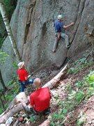 Rock Climbing Photo: Kevin sets out seeking FA-sweets.