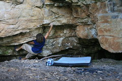 Rock Climbing Photo: First move.