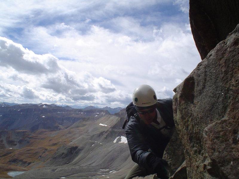 Ron Bubb on the Southwest Ridge.
