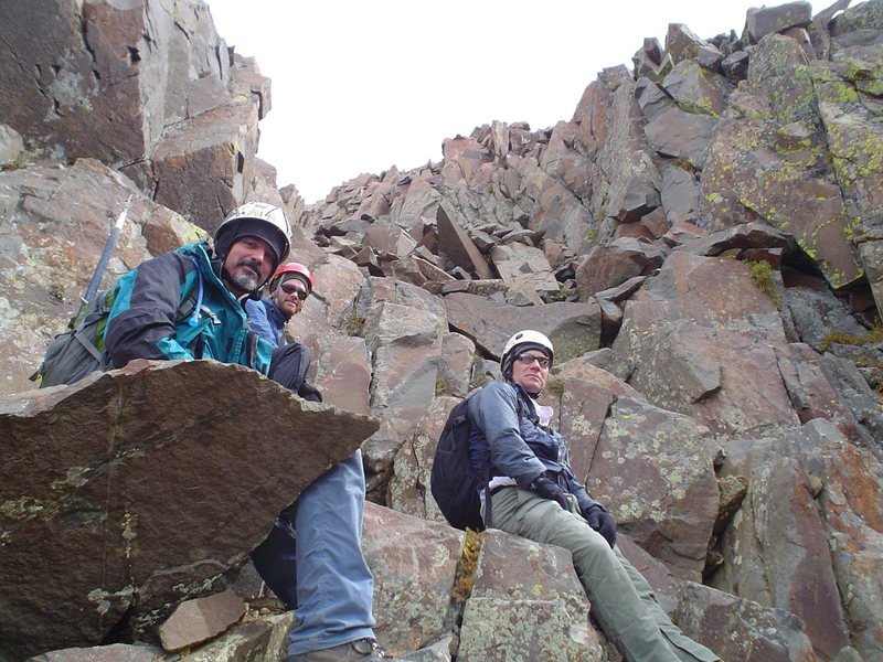 Rock Climbing Photo: Doug Bryson, Alex Barrows & Ron Bubb on the Southw...