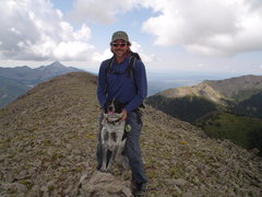 Rock Climbing Photo: Ringo's first summit. Sugarloaf Mtn.