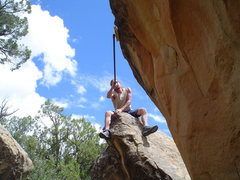 Rock Climbing Photo: Cleaning a new line fires me up! Libidozone,northe...