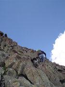 Rock Climbing Photo: Ringo and Doug Bryson near the summit of SugarLoaf...