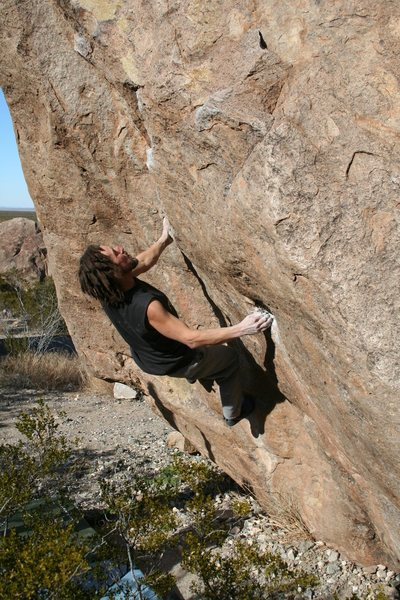 Las Cruces, NM. Chased out of Hueco by weather. Great Bouldering! This is at Pizza or Bear Boulders.