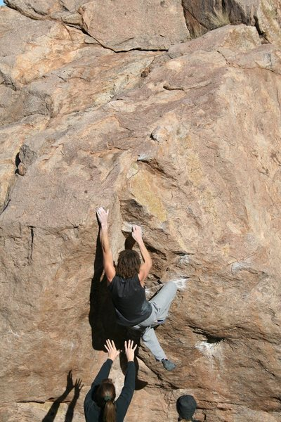 Rock Climbing Photo: Las Cruces,NM. That's my wife with her arms down. ...