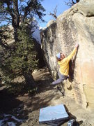 Rock Climbing Photo: Cliffhanger Friday V-3, Libidozone, northern NM.
