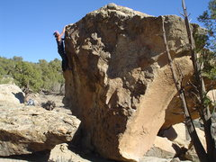 Rock Climbing Photo: Bo's Arete,V-1, Libidozone,northern NM.