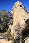 Rock Climbing Photo: I am Power, V-6,Libidozone, northern, NM.