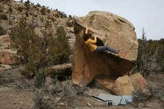 Rock Climbing Photo: Bo knows, V-1, Libidozone, northern,NM.