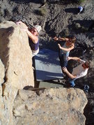 Rock Climbing Photo: H tryin hard on Bo knows V-1, Libidozone, northern...