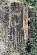 Rock Climbing Photo: Triston Richardson starting the crux.