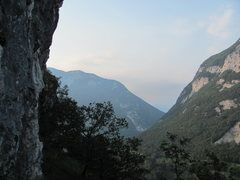 Rock Climbing Photo: View of the upper cliff at Leaz.