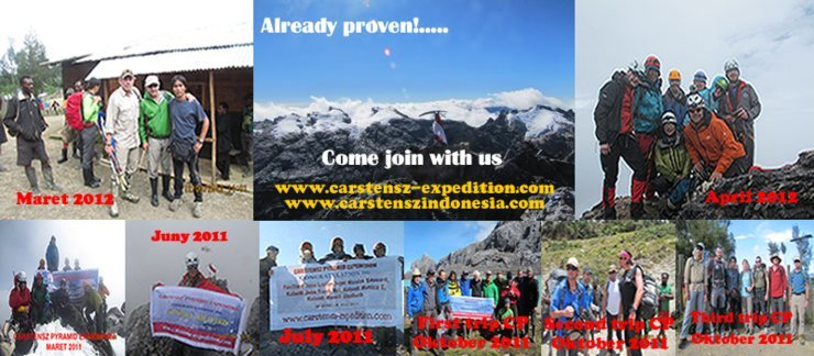 100% Success<br> Carstensz Pyramid Expedition, the most populer in Indonesia.