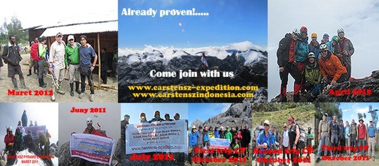 Rock Climbing Photo: 100% Success Carstensz Pyramid Expedition, the mos...