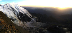 Rock Climbing Photo: View of Mont Blanc at Sunset from the north ridge ...