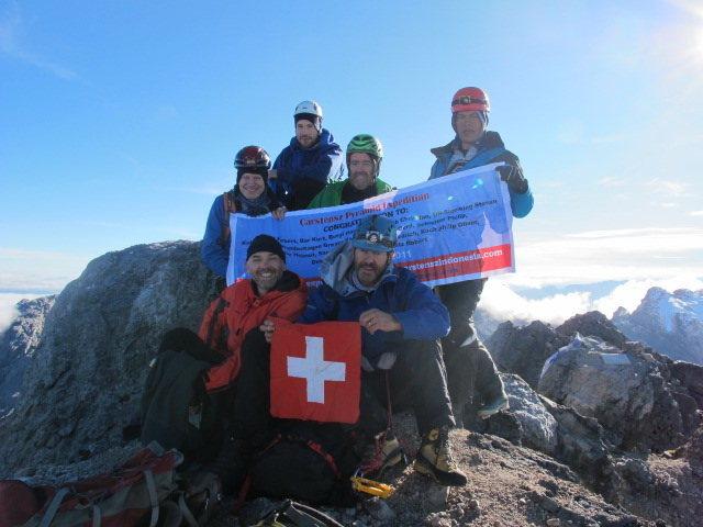 Kari Kobler team Summit of Carstensz Pyramid