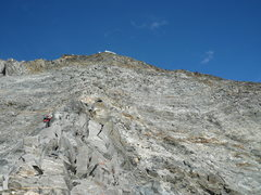 Rock Climbing Photo: Going up the North ridge of the Grand Couloir look...