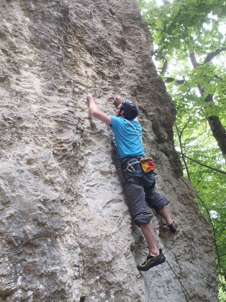 Rock Climbing Photo: Britton on Nano 6b+?