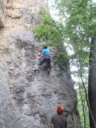 Rock Climbing Photo: not a 5c... Britton on Nano