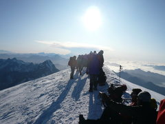 Rock Climbing Photo: Mont Blanc Summit... alone in nature.
