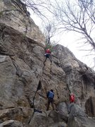 Rock Climbing Photo: Marco starting up