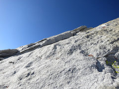 Rock Climbing Photo: At the top of pitch 1 looking up to the left or st...