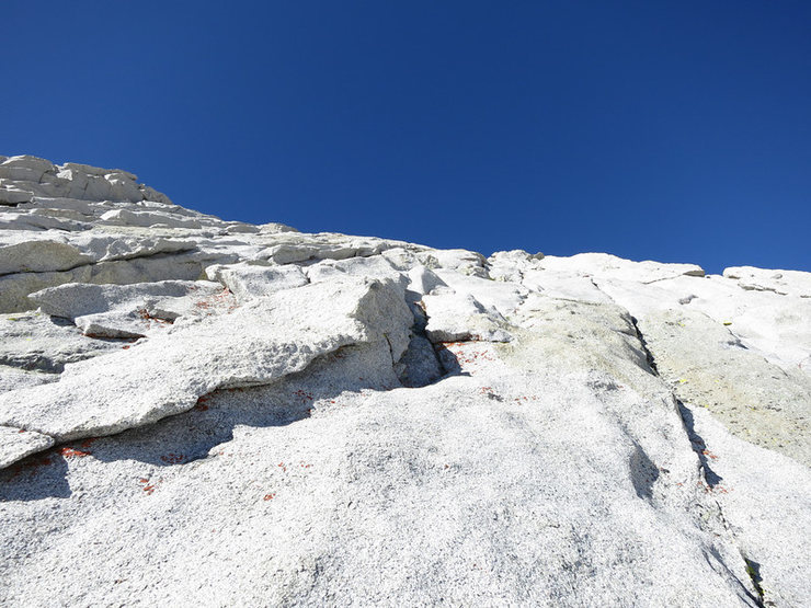 Rock Climbing Photo: Looking up P3 here. One can go right for easier cl...