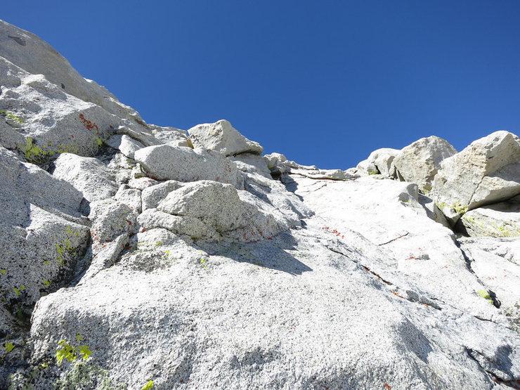 Rock Climbing Photo: A closer look up P4.