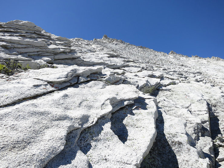 Rock Climbing Photo: The rest of the way was an easy scramble. One coul...