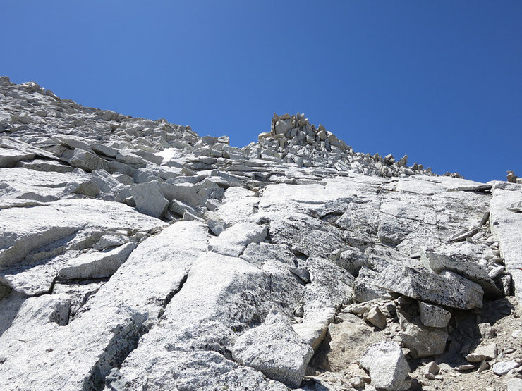 Rock Climbing Photo: Head towards the notch to join up with the North R...