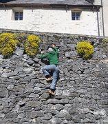Rock Climbing Photo: Roadside warmup in Russo.