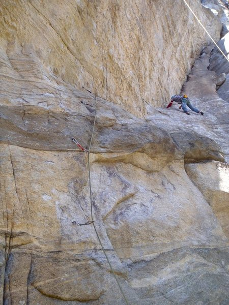 Rock Climbing Photo: In the dihedral of Cabernet Sauvignon 7a