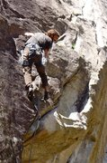 Rock Climbing Photo: Gianni enjoying himself a little too much