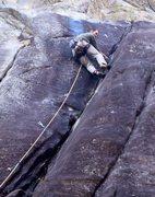 Rock Climbing Photo: Laybacking 101.