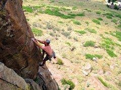 Rock Climbing Photo: Chris Perkins post-flight.  Photo by José Ortega.