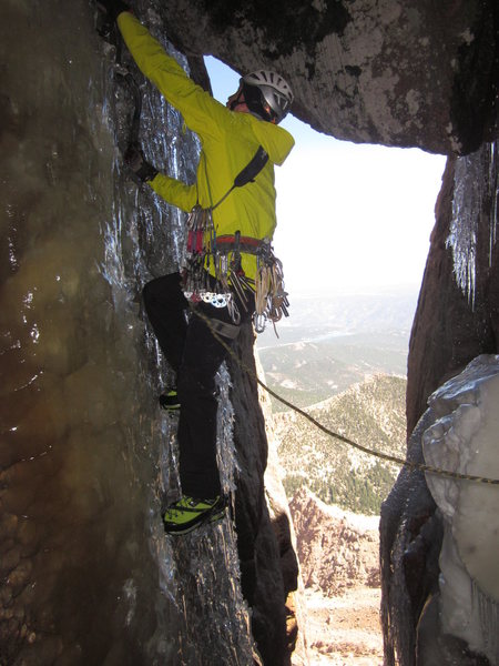 Just another E.W. hero shot. Phat ice climbing on June 17, 2012.