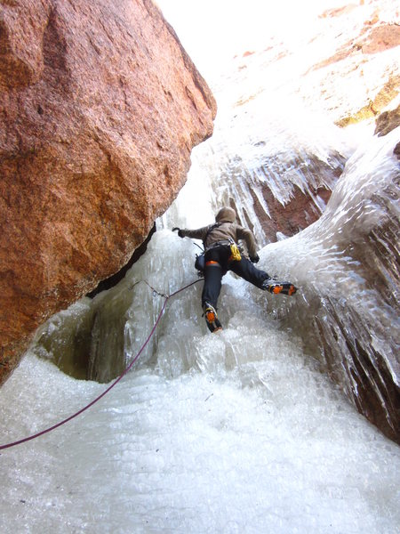 Rock Climbing Photo: I'm totally enjoying this 3rd pitch! June 17, 2012...