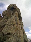 "Rock Climbing Photo: ""Crofting"" on the east ridge of San Migu..."
