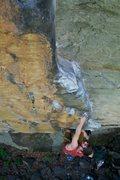 Rock Climbing Photo: A. Baldwin on Psycho Wrangler