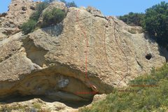 Rock Climbing Photo: Flintstone Rock.