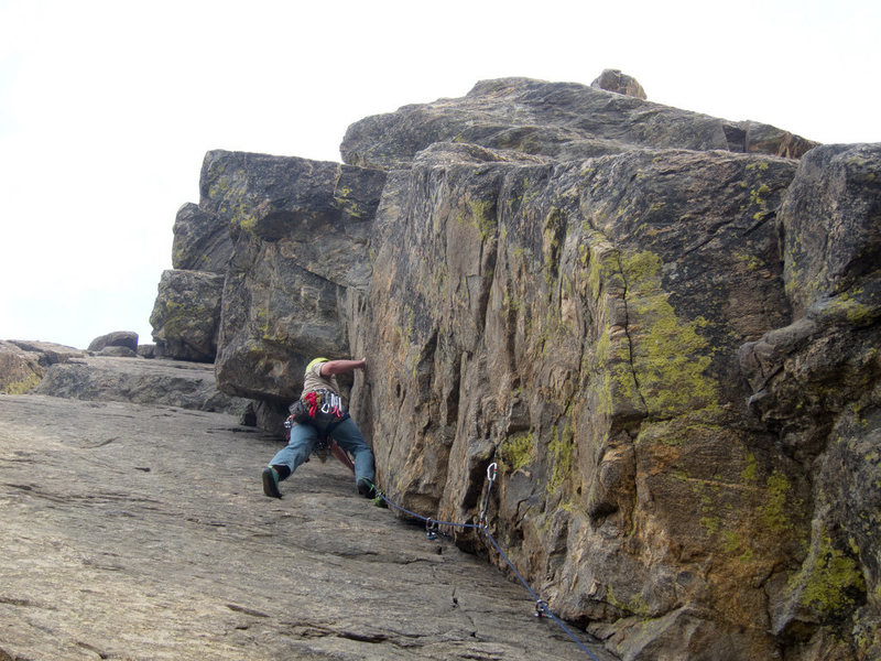 Rock Climbing Photo: 5.7 Dihedral, Lookout Mountain Crag