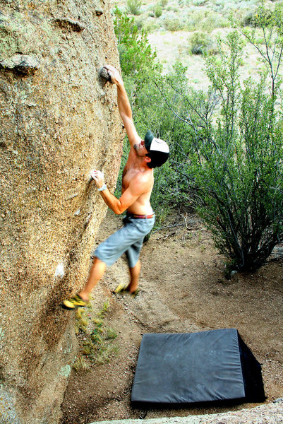 Rock Climbing Photo: Throwing for the jug.