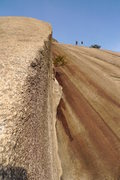 Rock Climbing Photo: Looking up the route once on the arete. Just keep ...
