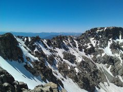 Rock Climbing Photo: The traverse from South Arapahoe to North Arapahoe...