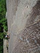 Rock Climbing Photo: Following P2 of Positive Latitude.