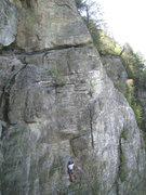 Rock Climbing Photo: Keith moving out right on Breaking Rocks. The Brea...