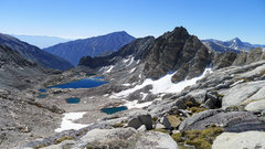 Rock Climbing Photo: Spire Lake and Peppermint Peak
